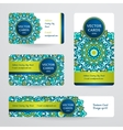 Business cards with mandala vector image