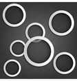 abstract metallic background with rings vector image vector image