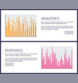 Analytics and statistics graphics on web pages