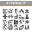 astronaut equipment collection icons set vector image