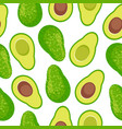 avocado seamless pattern background vector image vector image