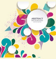 background with abstract shape vector image vector image