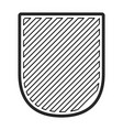 badge in monochrome contour and striped vector image vector image