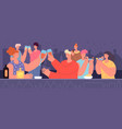 bar party new year birthday celebrating friends vector image vector image