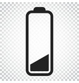 battery level indicator on isolated background vector image vector image