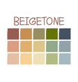 Beigetone Color Tone without Code vector image vector image