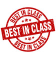 best in class round red grunge stamp vector image vector image