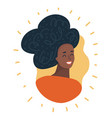black woman face african american girl avatar vector image vector image