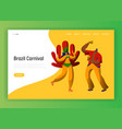 brazil summer carnival characters landing page vector image vector image