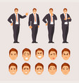 business guy set vector image vector image