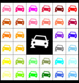 car parking sign felt-pen 33 colorful vector image vector image