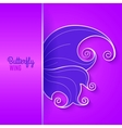 Card with abstract butterfly wing vector image vector image