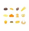 Cartoon Color Bakery Set vector image vector image
