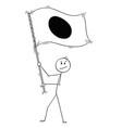 cartoon of man waving the flag of japan vector image