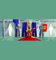 castle room cartoon vector image