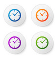 color clock icon isolated on white background set vector image