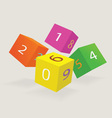 Color cubes with new date of year vector image