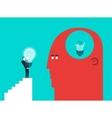 concept of broken light bulb and gift - Modern vector image