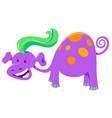 cute purple fantasy cartoon character vector image