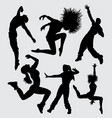 dance sport silhouette vector image vector image