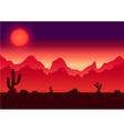 desert parallax background vector image vector image