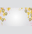 festive background with gold and silver balloons vector image