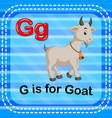 flashcard letter g is for goat vector image vector image