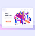 flat design isometric concept auditing vector image vector image