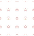 flower icon pattern seamless white background vector image vector image