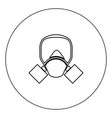 gas mask icon black color in circle isolated vector image vector image