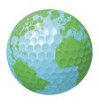 golf ball world globe concept vector image vector image