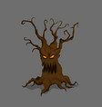 halloween tree in cartoon style vector image vector image