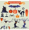 Happy Halloween elements and icons set for design vector image vector image