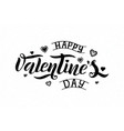 happy valentines day text vector image vector image