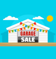 home garage sale concept banner flat style vector image vector image