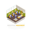 industrial machinery isometric concept vector image vector image