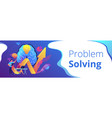 innovative solution concept banner header vector image vector image