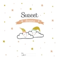 Inspirational and love card with romantic vector image vector image