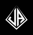 ja logo letters monogram with prisma shape design