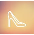 Lady high heel shoe thin line icon vector image vector image