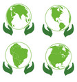 land on palms ecology icons europe america vector image