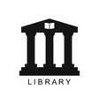 library icon vector image vector image