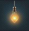 light bulb steampunk style light bulb vector image vector image