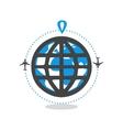 logo world travel vector image vector image
