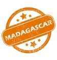 Madagascar grunge icon vector image vector image