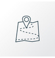 map icon line symbol premium quality isolated vector image vector image