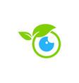 nature eye logo icon design vector image vector image