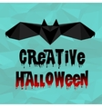 Origami Halloween bat with text vector image vector image