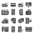 payment icons set transaction credit card vector image