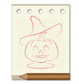 pencil drawing on the theme of Halloween vector image vector image